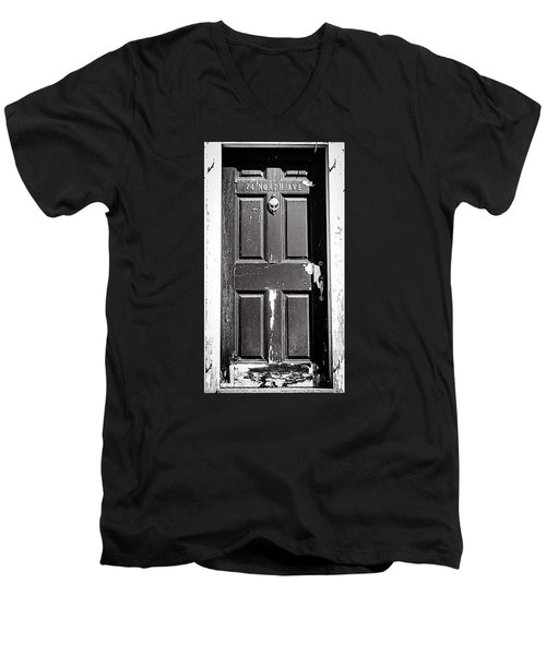 Men's V-Neck T-Shirt featuring the photograph 74 North Ave. by Bruce Carpenter