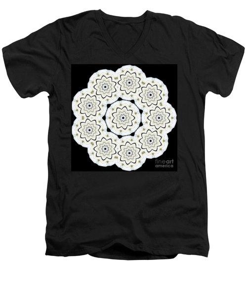 9-pointed Orchid Star Men's V-Neck T-Shirt