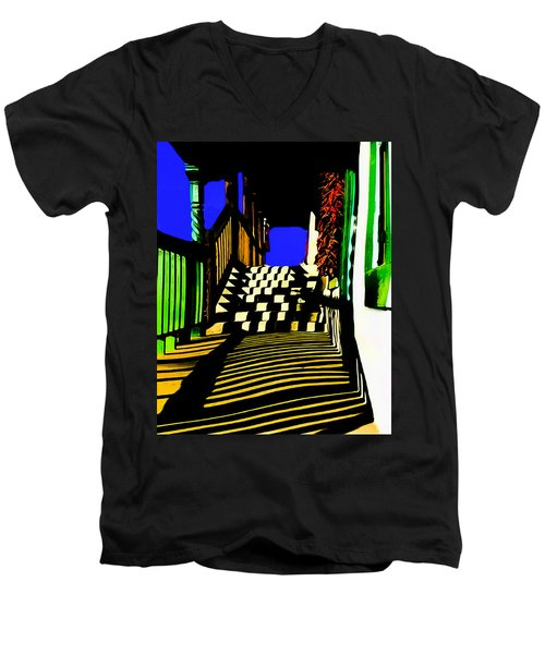 Streets Of Taos Men's V-Neck T-Shirt