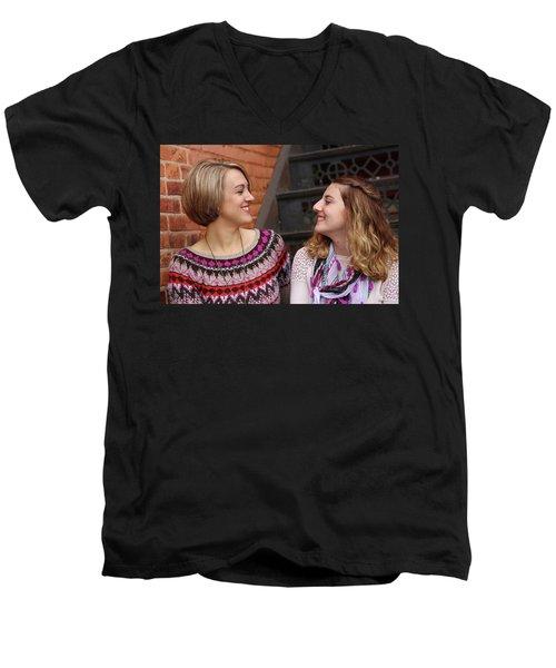 9g5a9432_e Men's V-Neck T-Shirt by Sylvia Thornton