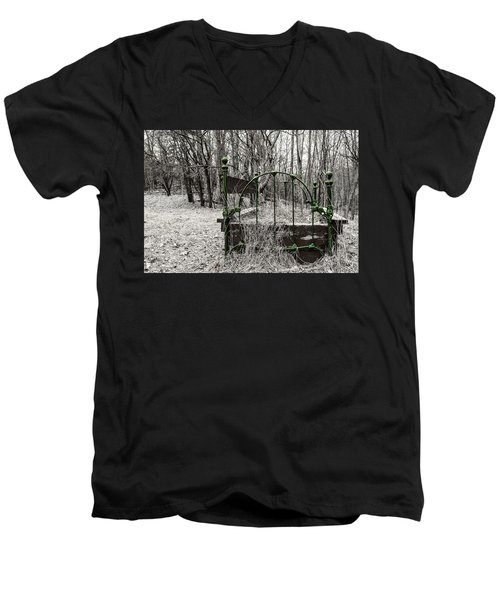 A Bed In The Forest Men's V-Neck T-Shirt