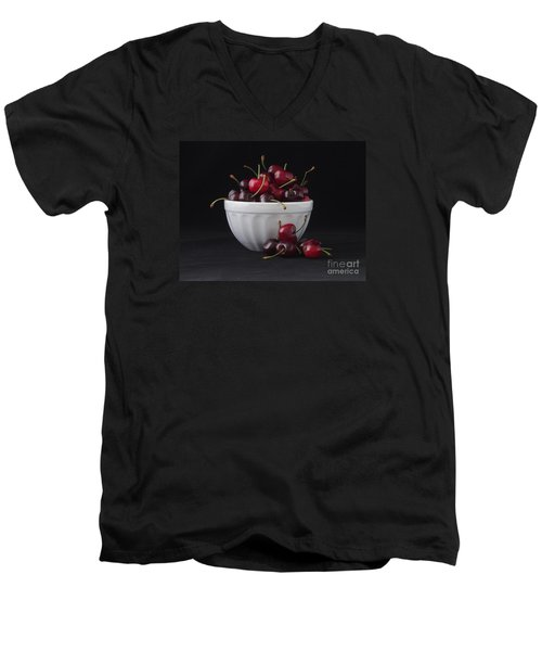 A Bowl Full Of Cherries Men's V-Neck T-Shirt