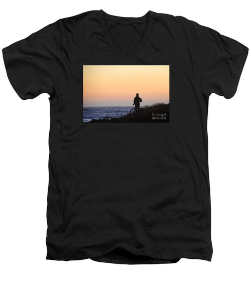 A Boy His Bike And The Beach Men's V-Neck T-Shirt