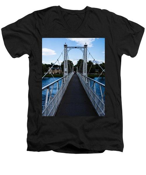 A Bridge For Walking Men's V-Neck T-Shirt
