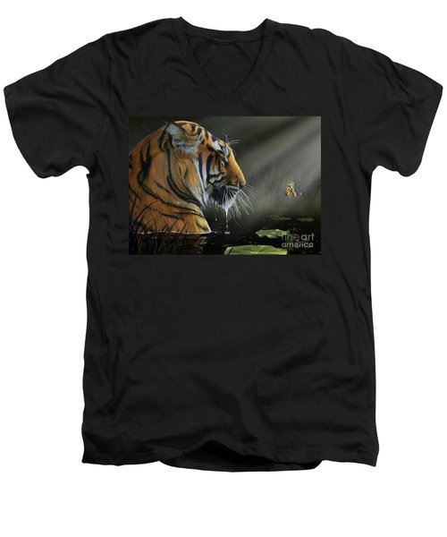 A Chance Encounter II Men's V-Neck T-Shirt by Don Olea