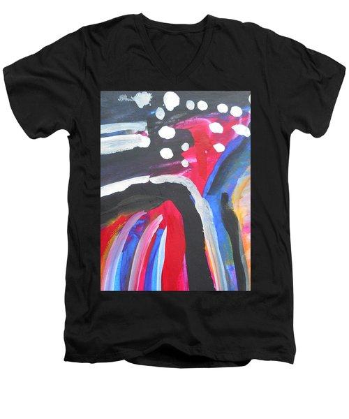 A Colorful Path Men's V-Neck T-Shirt