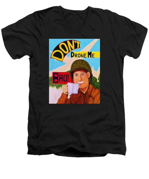 Men's V-Neck T-Shirt featuring the painting A Cup Of Joe by Rand Swift