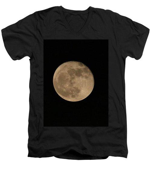A December Super Moon Men's V-Neck T-Shirt