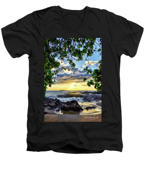 Heaven On Maui Men's V-Neck T-Shirt