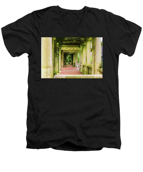 A Garden House Entryway. Men's V-Neck T-Shirt