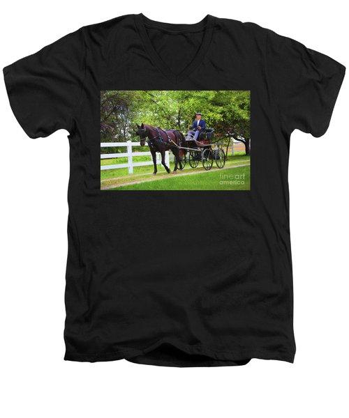 A Gentleman's Sunday Ride Men's V-Neck T-Shirt