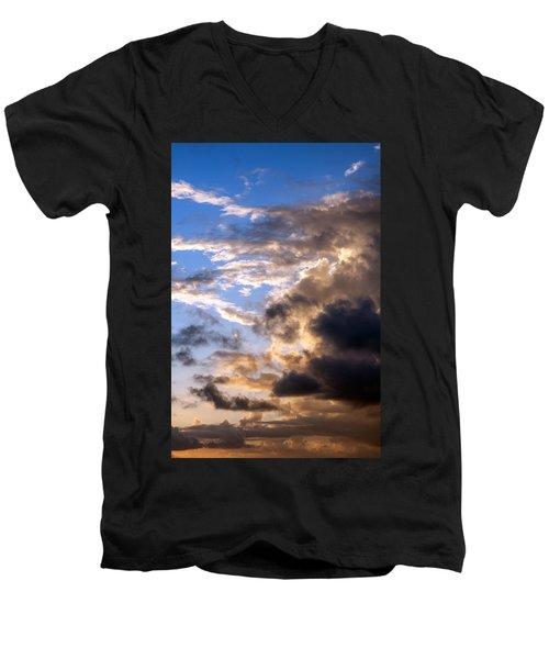 Men's V-Neck T-Shirt featuring the photograph a Good Morning by Allen Carroll