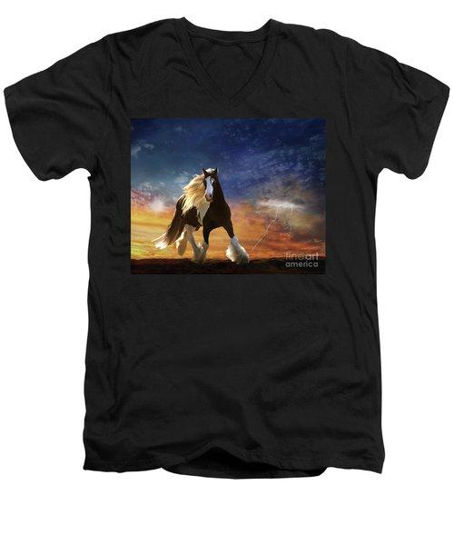 A Gypsy Storm Men's V-Neck T-Shirt by Melinda Hughes-Berland