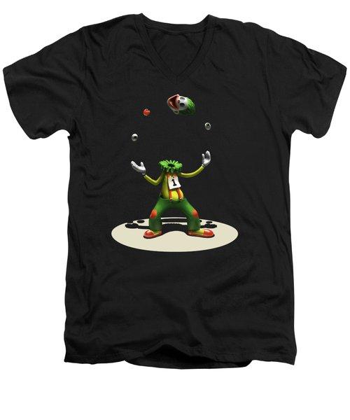 Men's V-Neck T-Shirt featuring the digital art A Hard Act To Follow by Ben Hartnett