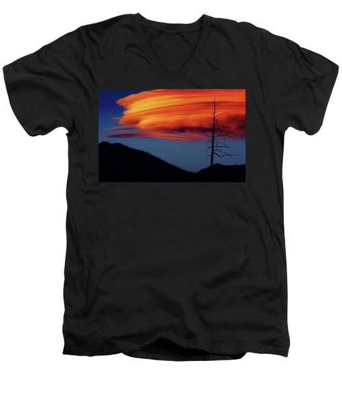 A Haunting Sunset Men's V-Neck T-Shirt