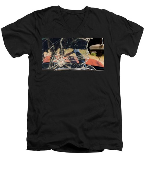 Men's V-Neck T-Shirt featuring the photograph A Hole In The Window by Fran Riley