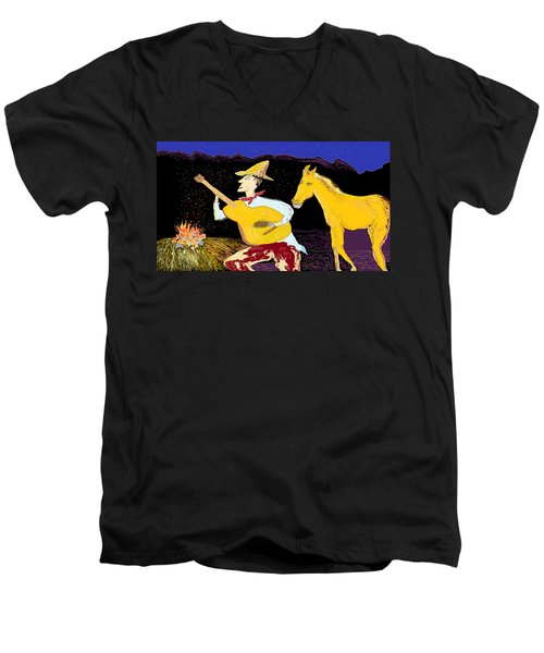 A Horse Sings Men's V-Neck T-Shirt
