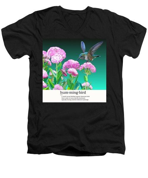 A Hummingbird Visits Men's V-Neck T-Shirt
