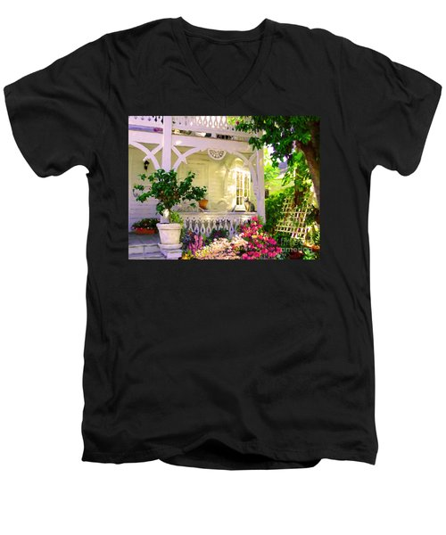 A Key West Porch Men's V-Neck T-Shirt