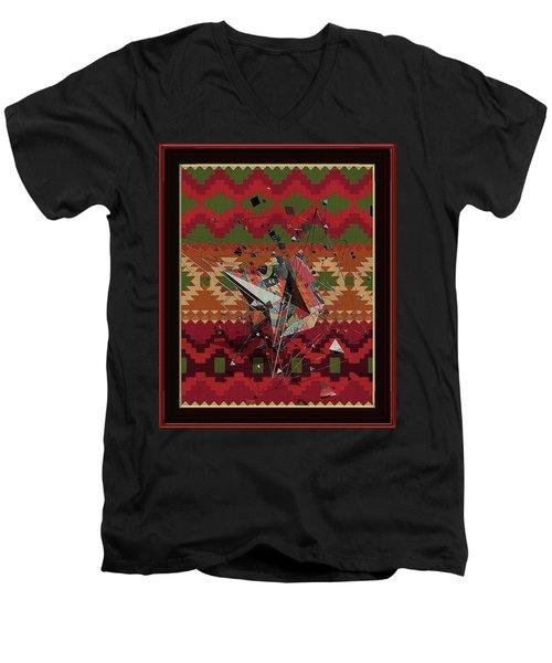 A La Kandinsky C1922 Men's V-Neck T-Shirt