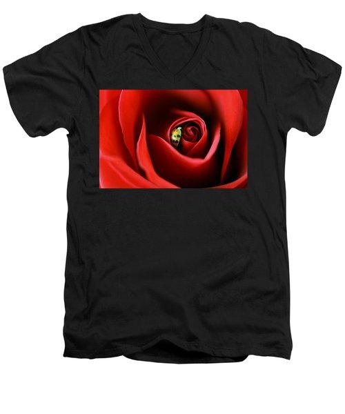 A Lady's Love Men's V-Neck T-Shirt by The Art Of Marilyn Ridoutt-Greene