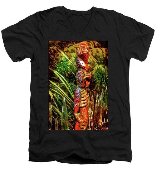 A Maori God In New Zealand Men's V-Neck T-Shirt