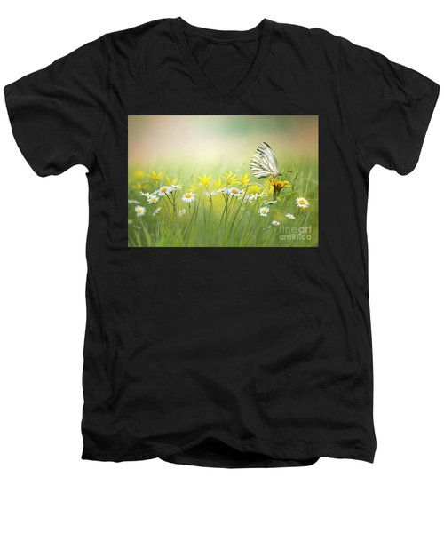 Light Wings Men's V-Neck T-Shirt