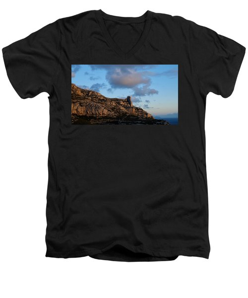 A Mountain With A View Men's V-Neck T-Shirt