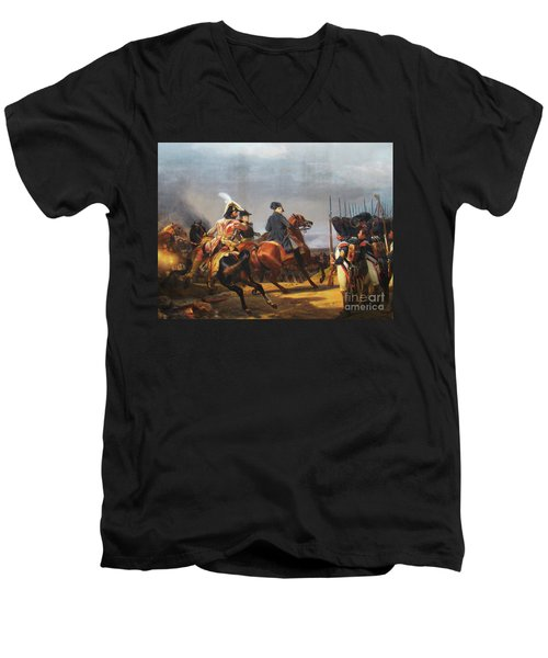 A Napoleonic War At Versailles Men's V-Neck T-Shirt by Al Bourassa