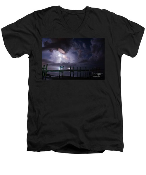 A Pier With A View Men's V-Neck T-Shirt