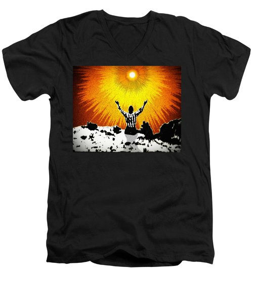 Men's V-Neck T-Shirt featuring the photograph A Place To Abandon Yourself by Glenn McCarthy Art and Photography