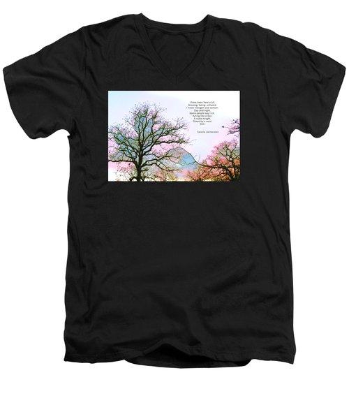 A Poem And A Tree I Men's V-Neck T-Shirt by Carolina Liechtenstein