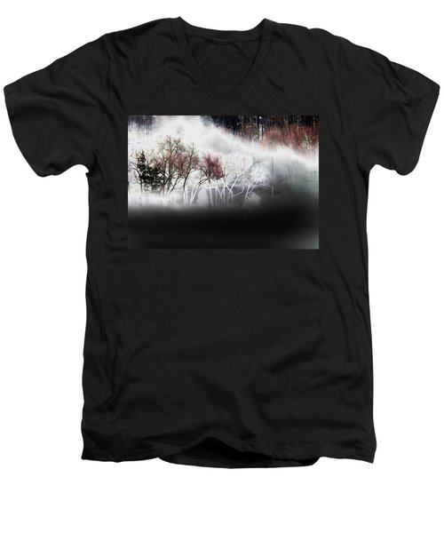 Men's V-Neck T-Shirt featuring the photograph A Recurring Dream by Steven Huszar