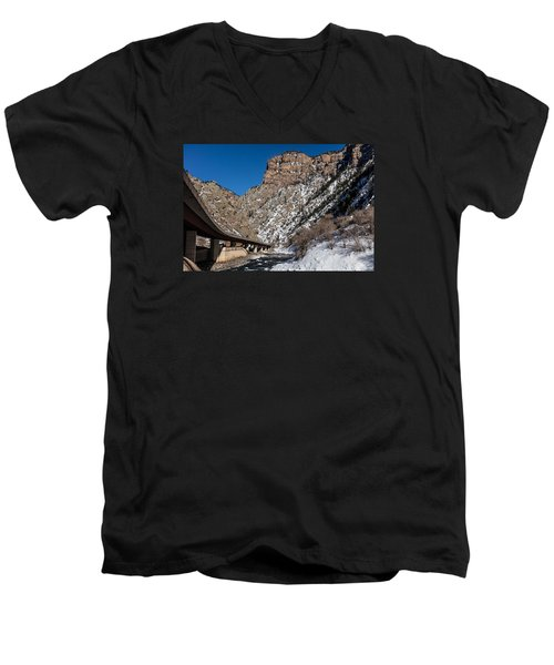 A Section Of The World-famous Glenwood Viaduct Men's V-Neck T-Shirt by Carol M Highsmith