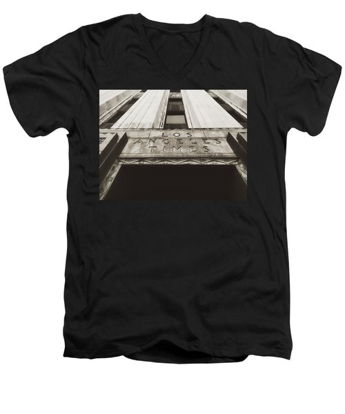 A Sign Of The Times - Vintage Men's V-Neck T-Shirt by Mark David Gerson