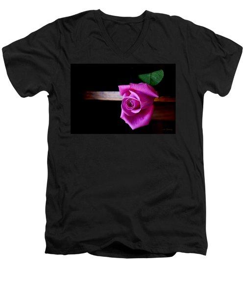 A Single Rose Men's V-Neck T-Shirt
