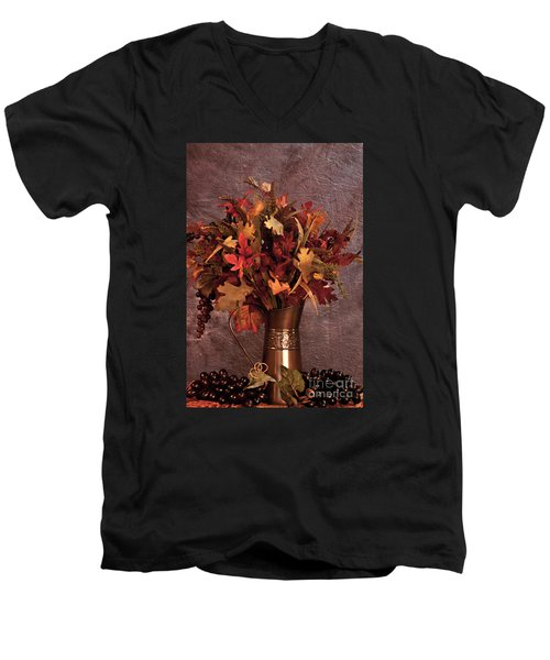 A Still Life For Autumn Men's V-Neck T-Shirt by Sherry Hallemeier