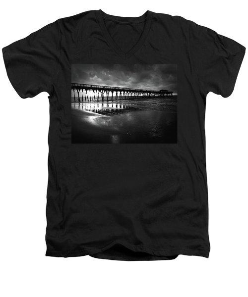 A Storm At Sunrise Men's V-Neck T-Shirt by Kelly Hazel