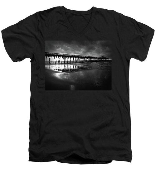 A Storm At Sunrise Men's V-Neck T-Shirt