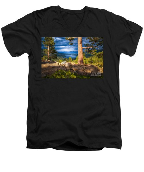 A Swing With A View Men's V-Neck T-Shirt