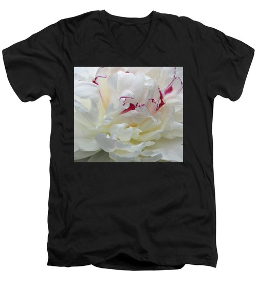 Men's V-Neck T-Shirt featuring the photograph A Touch Of Color by Sandy Keeton