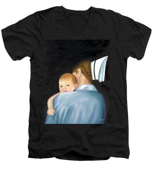 Comforting A Tradition Of Nursing Men's V-Neck T-Shirt by Marlyn Boyd