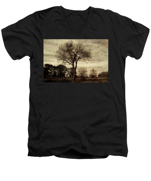 A Tree Along The Roadside Men's V-Neck T-Shirt