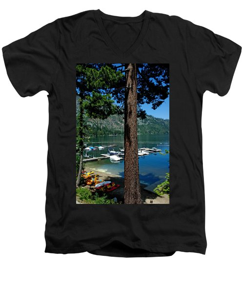 A Trees View Of Fallen Leaf Lake Men's V-Neck T-Shirt