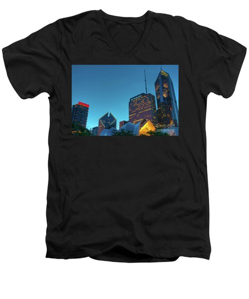 A View From Millenium Park Men's V-Neck T-Shirt
