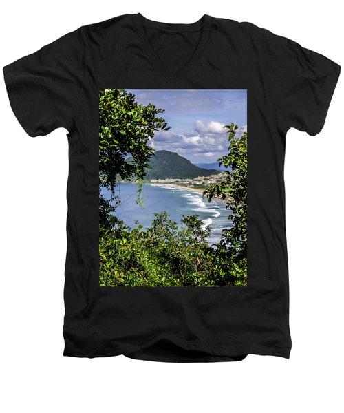 A View Of The Beach Men's V-Neck T-Shirt