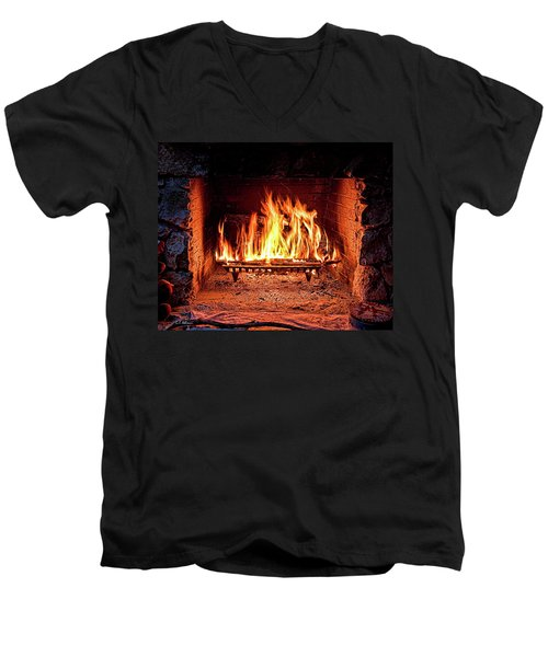 A Warm Hearth Men's V-Neck T-Shirt