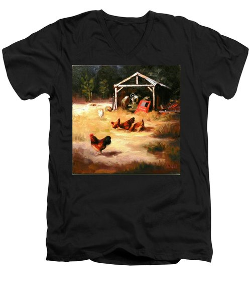 A Watchman Men's V-Neck T-Shirt