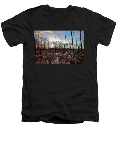 Men's V-Neck T-Shirt featuring the photograph A Wet Decay by Ryan Crouse