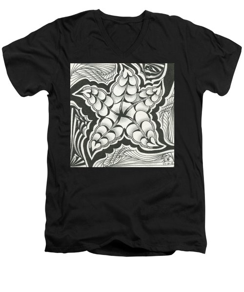 A Woman's Heart Men's V-Neck T-Shirt by Jan Steinle